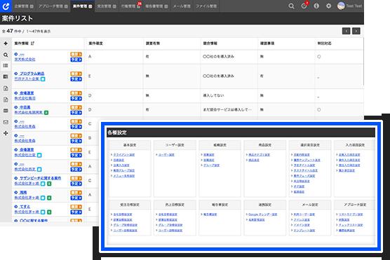 管理画面から、項目追加・編集・並べ替えがクリックのみで可能
